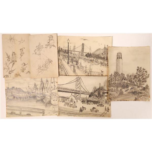 Original Pencil Drawings of San Francisco  [135959]