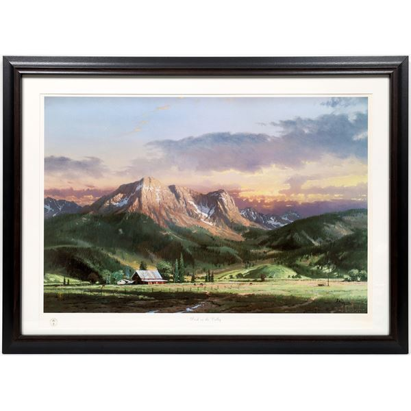 """Thomas Kinkade Print """"Dusk in the Valley, Limited Edition  [133771]"""