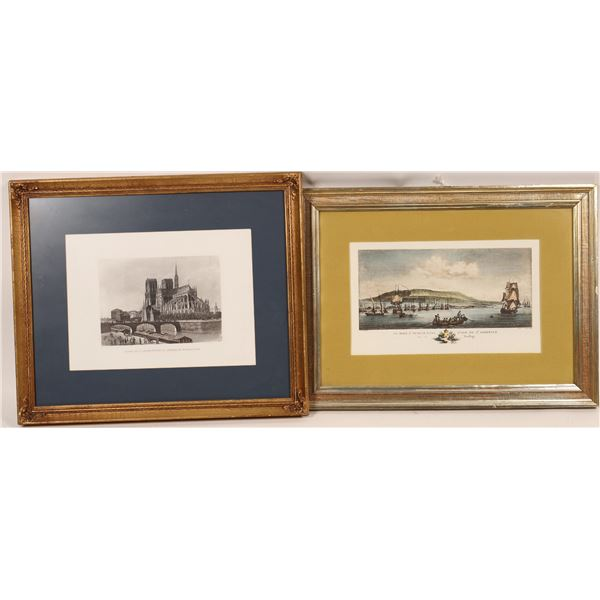 Framed Lithograph Art Collection (4)  [135154]