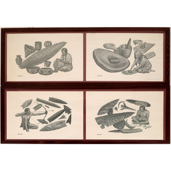 Indian & Early Man Artifacts Prints by William A. Moore, Limited Edition  [133772]