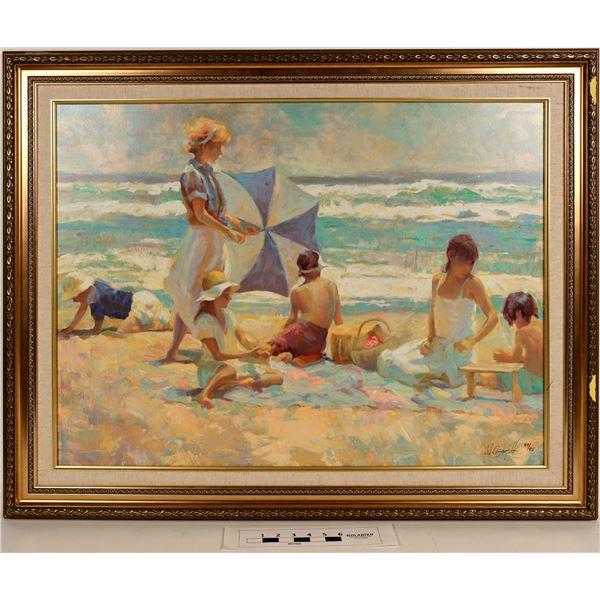 Beach Scene Pastel Giclée, Numbered  [124990]