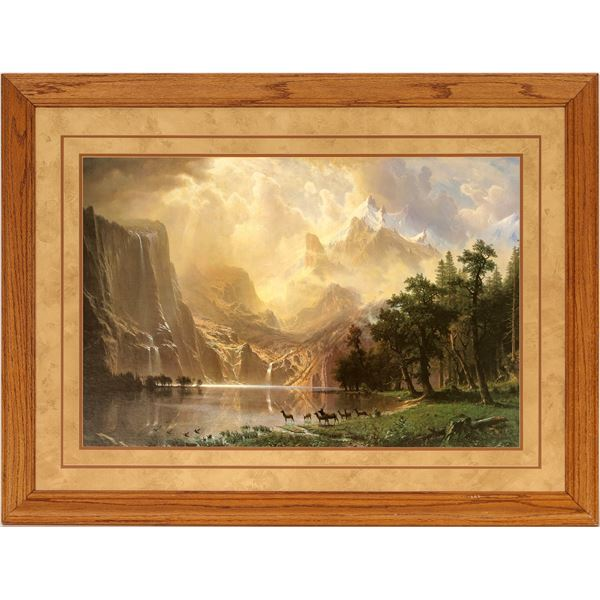 Between the Sierra Nevada Mountains--Bierstadt  [136540]