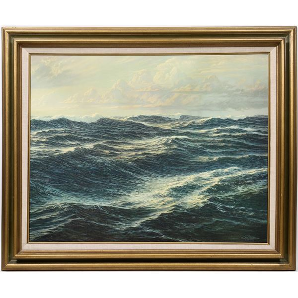 """Josef M. Arentz """"The South Atlantic"""" Registered Reproduction of a Work of Art  [133766]"""