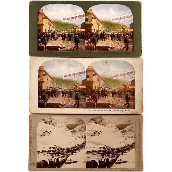 Three Klondike Gold Rush Stereoviews  [134212]