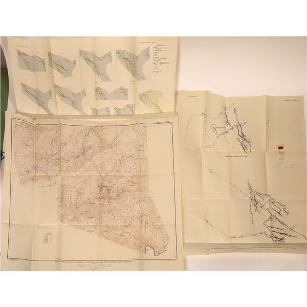 U.S.G.S. Professional Paper No. 172, the Alleghany District, Sierra Co., Mining Maps (5 Plates)  [13