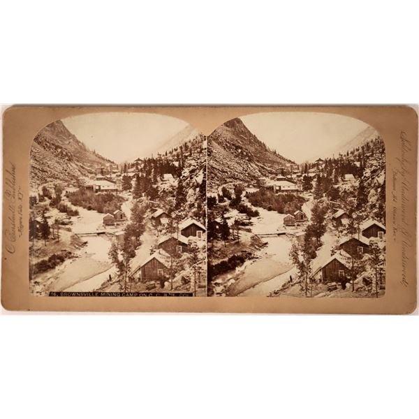 Brownsville Mining Camp Stereoview  [135817]
