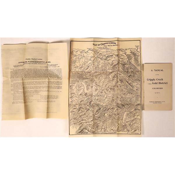 Cripple Creek Mining District Pocket Manual w/ Map  [135283]
