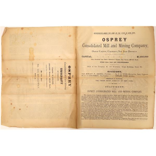 Mining Prospectus for the Osprey Consolidated  [135086]