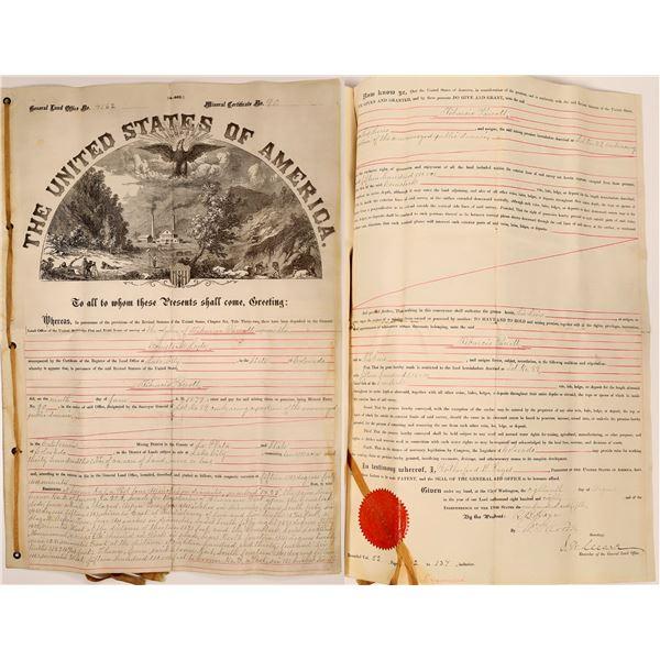 Colorado Mining Claim Survey & Certificate  [137624]