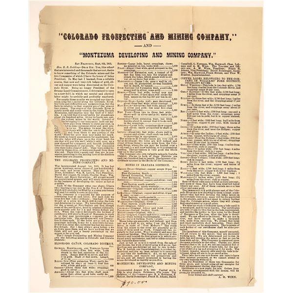 Montezuma Developing and Mining Company Prospectus  [132614]