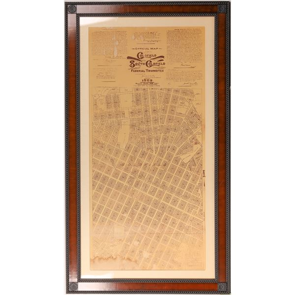 Goldfield Nevada Blueprint c1910  [135153]