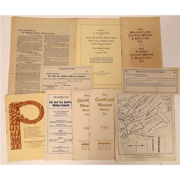 Nevada Mining Prospectuses and Stock Reports  [132621]