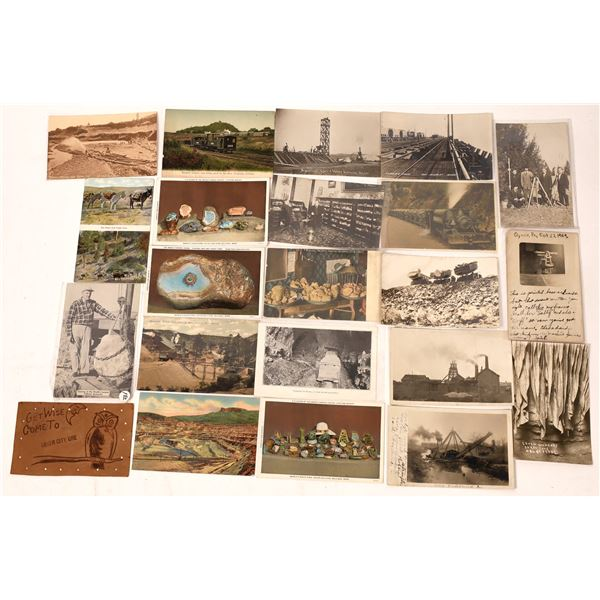 Mining, Mineral and Related Postcards (Lot of 21)  [138094]