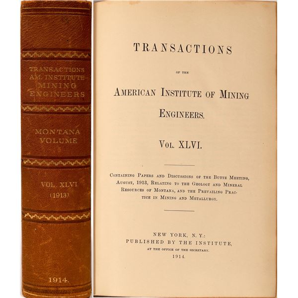 Transactions of the American Institute of Mining Engineers  [136880]