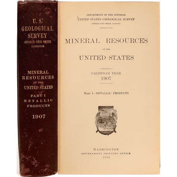 U.S.G.S. Mineral Resources of the U.S., Part 1 Metallic Products  [133830]