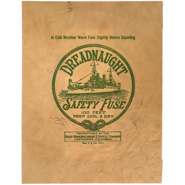 Dreadnaught Safety Fuse Wrapper, c1910  [135034]