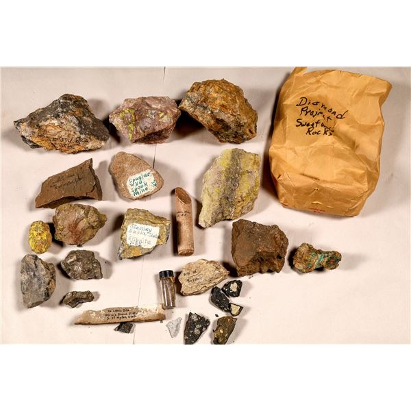 Uranium and Other Ore Specimens, Snow Collection  [136708]