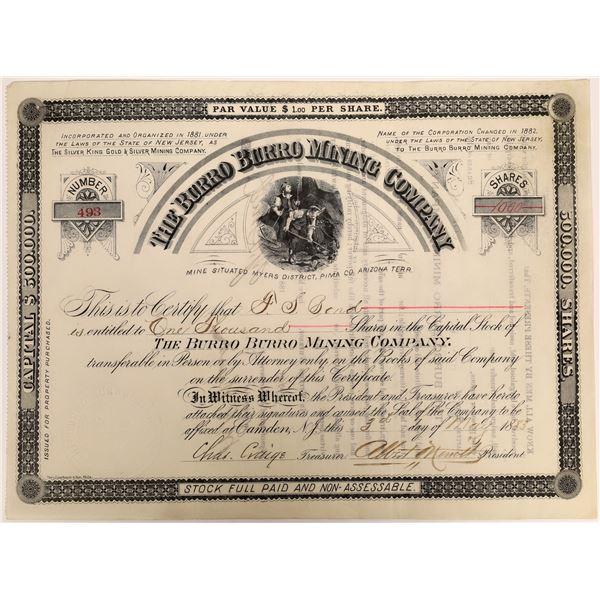 The Burro Burro Mining Company Stock  [135795]