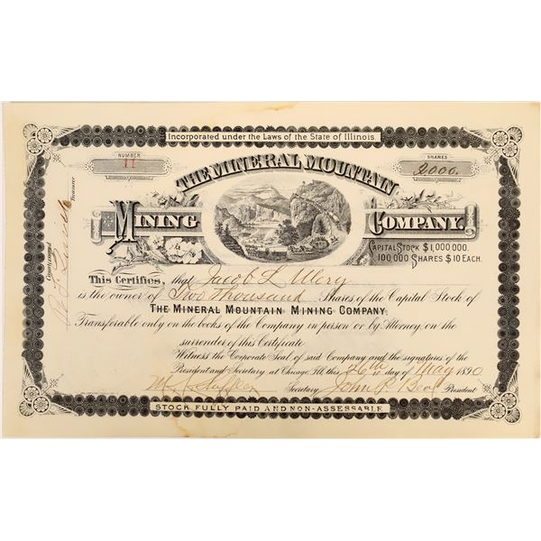 Mineral Mountain Mining Company Stock [135804]