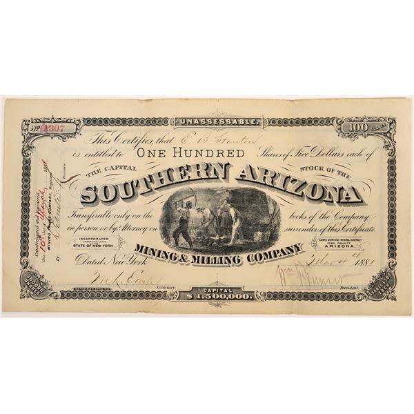 Southern Arizona Mining & Milling Company Stock  [135799]