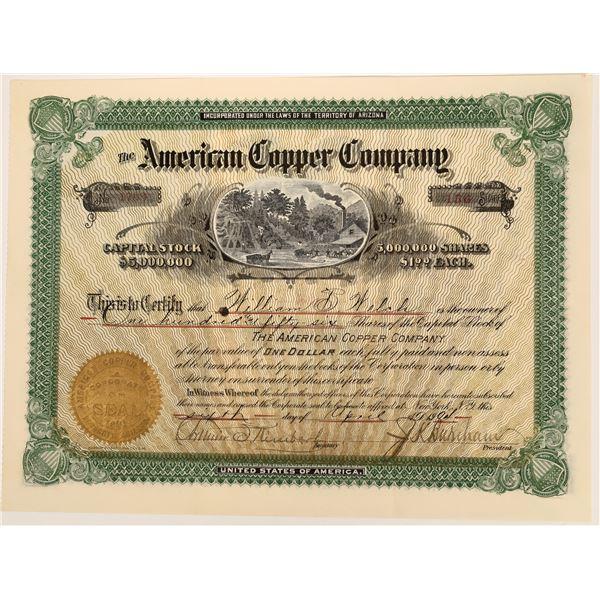 American Copper Company Stock  [135807]