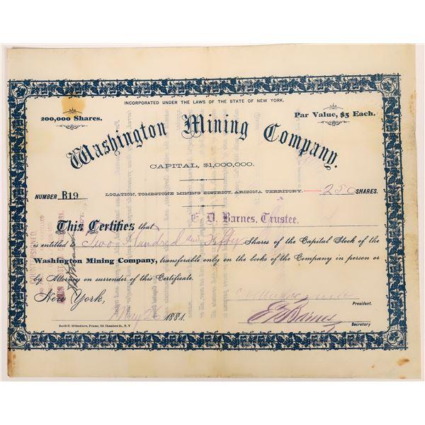 Washington Mining Company Stock  [136450]