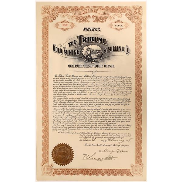 Bond Certificate for the Tribune Gold Mining & Milling Company  [131554]