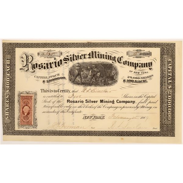 Rosario Silver Mining Company Stock  [135801]