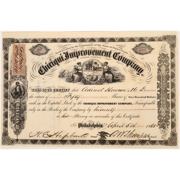 Chiriqui Improvement Company Stock Certificate [135808]