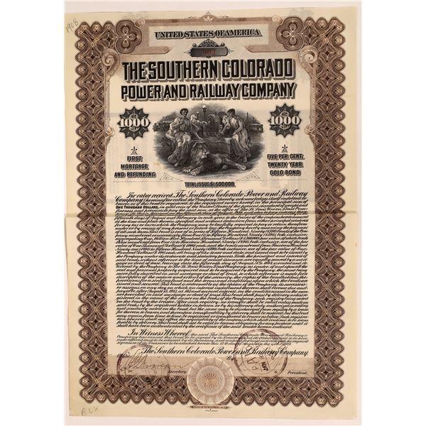 Southern Colorado Power and Railway Company Bond  [137022]