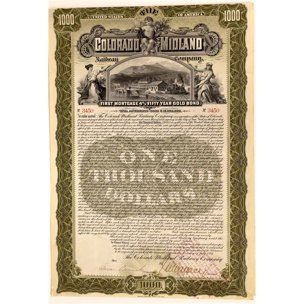 Colorado Midland Railway Company Bond  [136898]