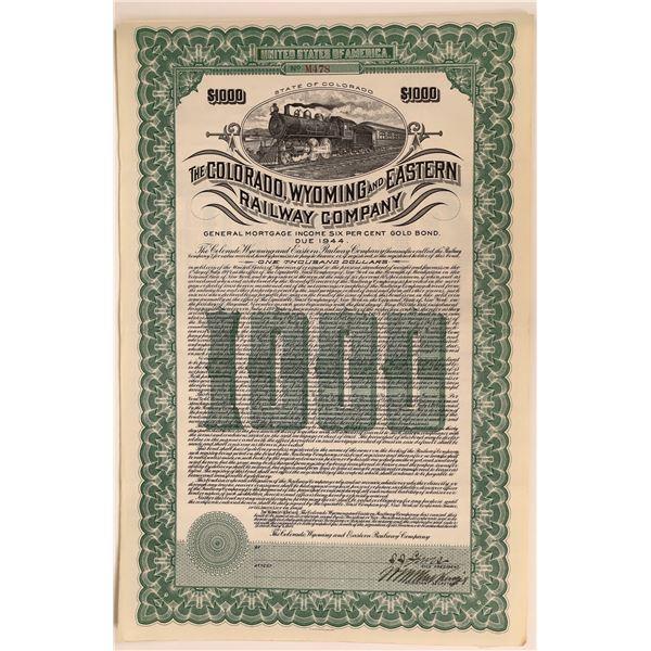 Colorado, Wyoming and Eastern RWY Gold Bond  [137010]