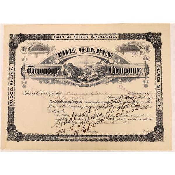Gilpin Tramway Stock Certificate  [137031]