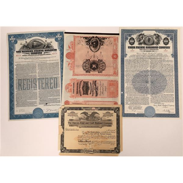 Union Pacific and More Stock & Bond Certs (4)  [137007]