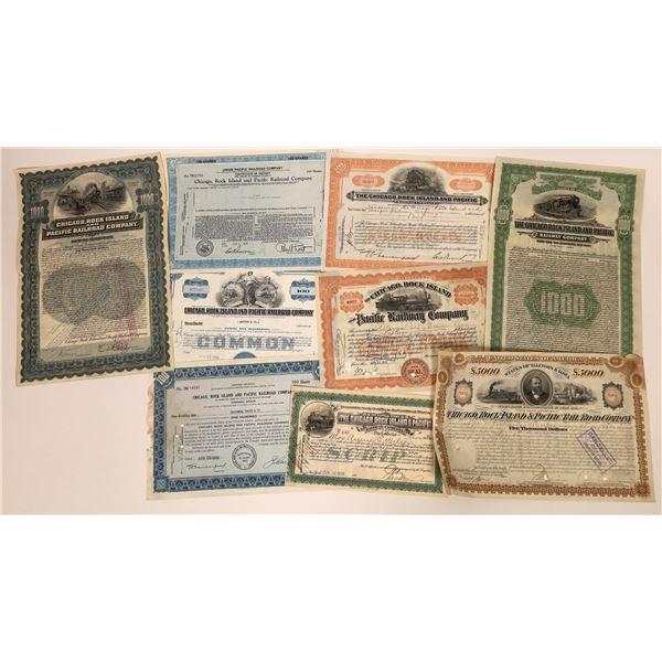 Chicago, Rock Island & Pacific Railway Stocks & Bonds (9)  [137001]