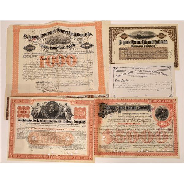 Mid-West Railroad Stocks   [137020]