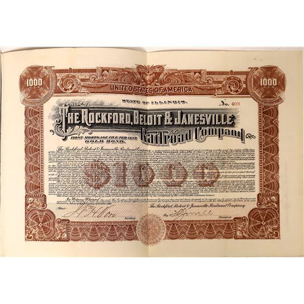 Rockford, Beloit & Janesville Railroad Company Gold Bond  [135690]