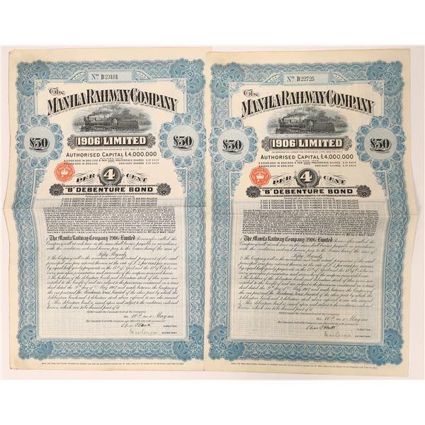 Manila Railway Company Bond Certificates  [135065]