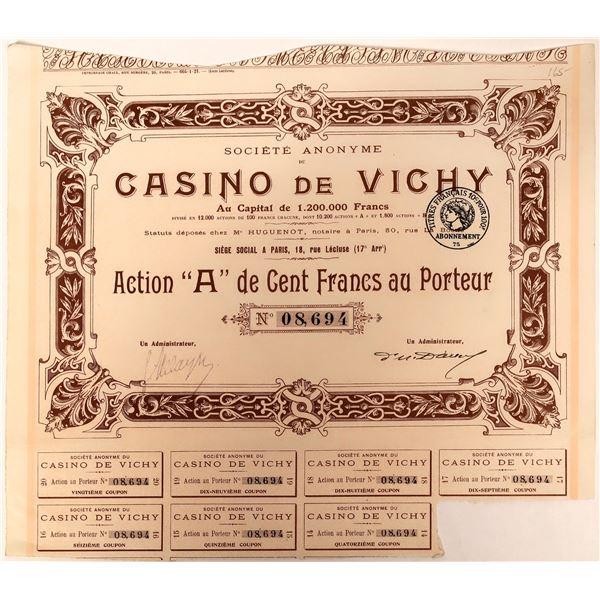 Casino de Vichy Bond Certificate  [132681]