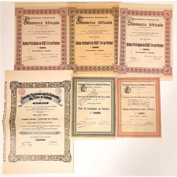 Compagnie Francaise de Commerce Africain Bond Certificates  [135947]