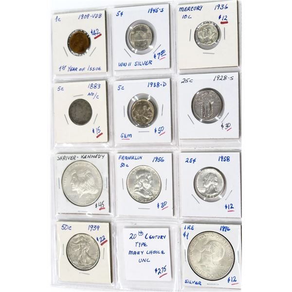 U.S. Mint 20th Century Variety Group - 11 Coins  [138914]