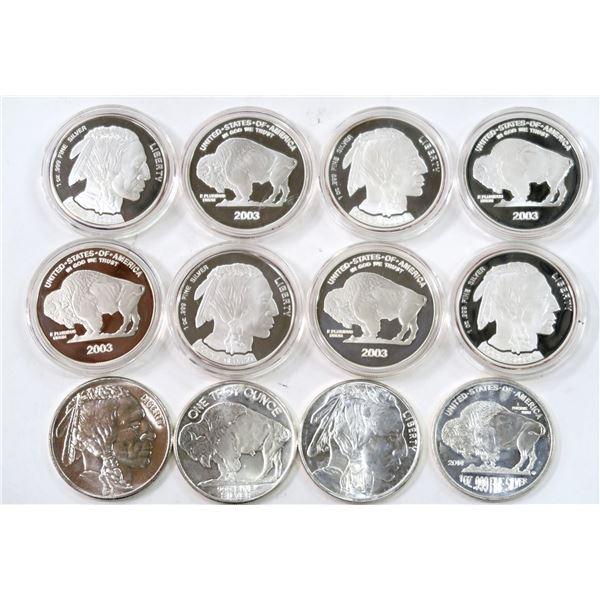 Indian Head/Buffalo Silver Bullion Pieces  [136490]