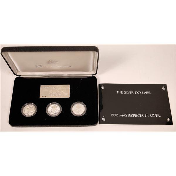Royal Australian Mint 1990 Silver Dollars  [137706]