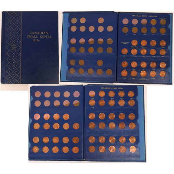 Canadian Small Cents 1920- Whitman Coin Album  [137786]