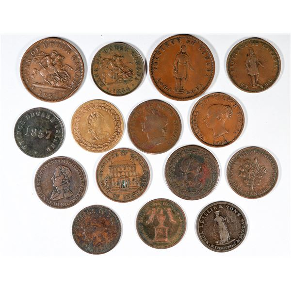 Early Canadian Tokens and Pennies  [137710]