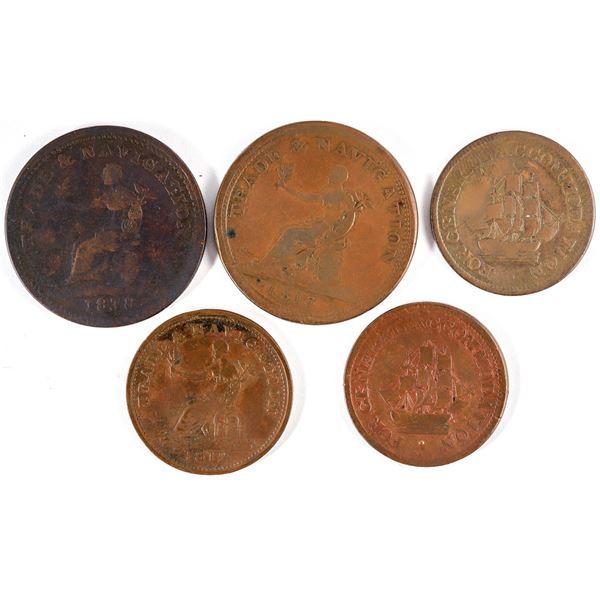 Pure Copper Trade & Navigation Pennies  [136779]