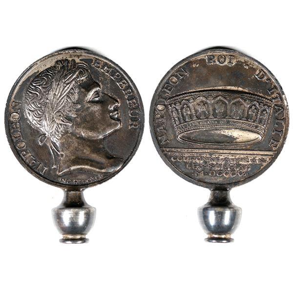 Napoleon Roi d'Italia Coin made into a Rotary Phone Dialer  [137702]