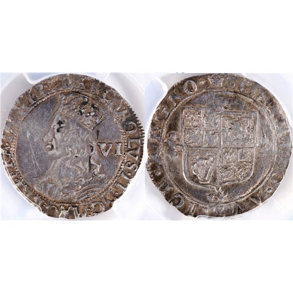 1660-62 Hammered Coinage Silver Six Pence  [135222]