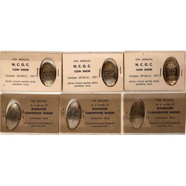 Elongated Dimes N.C.O.C. Coin Show Convention  [135230]