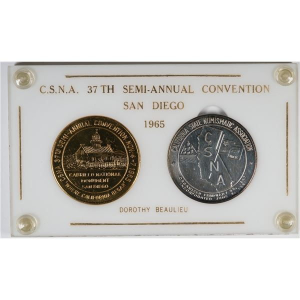 California State Numismatic Association 1965 San Diego Convention Medals  [137705]